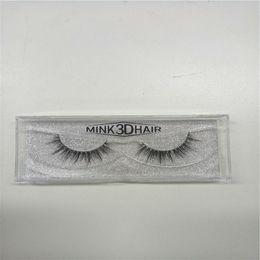 Wholesale Wholesale Professional Mink Eyelashes - 3D Mink Eyelashes Extension Professional 3D Lashes makeup soft Handmade Strip Lashes Natural Real Mink Eyelashes