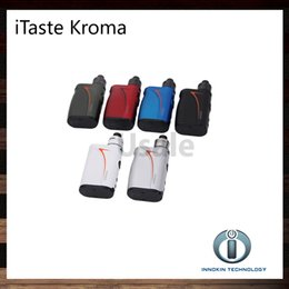 Wholesale Innokin Itaste Batteries - Innokin iTaste Kroma Kit With 75W Kroma Mod 2000mah Battery Slipstream RDA Tank Complete Temperature Control Vape System 100% Original
