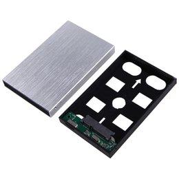 Wholesale Sata Hdd Tb - Silver Computer PC USB 3.0 External HDD SDD Enclosure 2.5 Inch SATA 3 Hard Disk Drive Portable Caddy Case Support 3 TB Aluminum