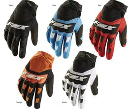 Wholesale Mountain Gloves - Free shipping motorcycle gloves New 2017 FOX mountain bike full finger cycling gloves 4 colors