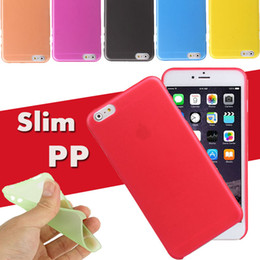 Wholesale Iphone 4s Thin - 0.3mm Soft PP Cover Case Ultra Thin Colorful Matte Frosted Transparent Crsytal Clear For iPhone X 8 7 Plus 6S 6 5S 5 4 4S Samsung S8 Note 8