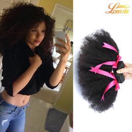 Wholesale Tangle Free Curly Hair Weave - Wholesale Virgin Brazilian Human Hair Bundles Afro Curly Natural Color 3pcs Bundles Brazilian Hair Weaves No Tangle Free Shipping