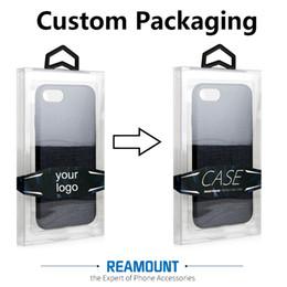 Canada En gros Personnalisé PVC En Plastique Boîte D'emballage pour iPhone 6 6 s 7 7 Plus Téléphone Couverture Emballage Emballage Blister Boîte Offre