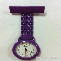 Wholesale Nursing Pocket Watch Men - HOT SALE Doctor Watch Nurse Quartz Wristwatch Pocket Acrylic Watches Clip-on Men and Women Watches Gift-utop2012