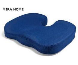 ec4fbe54871 De alta calidad espesar U-Shaping Coccyx ortopédico asiento almohadilla de  gel Comfort memoria espuma masaje de almohada para silla de oficina coche