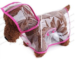 Wholesale Tents For Dogs - 2017 NEW Waterproof Pet Dog Clothes Clear Transparent Dog Raincoat Puppy Costume For Small and Medium Dog GLO