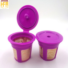 Wholesale Drip Cup - New Arrival Coffee Filter K Cup Office Home Supplies Reusable Eco-Friendly Etching Mesh Espresso Maker Cup Coffee Capsules Drip Cups
