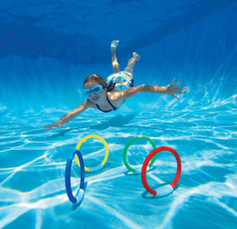 Wholesale dive rings wholesale - Parenting Interaction Leisure Toys Kids Pool Play Outdoor Sport Dive Diving Grab Stick Motion Diving Water Ring Buoy Four Suits 9 8jm J1