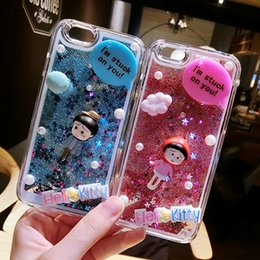 Wholesale Iphone Cases For Girls 3d - Korea 3D DIY new cute candy liquid quicksand Girl case for apple iphone7 7plus i6 6s plus phone case 6plus 6splus 5 5S SE cover