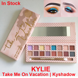 Wholesale Kylie Eyeshadow take Me On Vacation Palette Color Kylie Jenners Kyshadow pressed powder Eyeshadow palette with brush Cosmetics Eye shadow