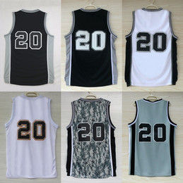 Wholesale Kids Uniform Logos - 2017 New 20 Manu Ginobili Mens Womens Kids Retro Best quality Uniform Basketball Jerseys embroidered player name logos XS-3XL Factory outlet