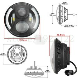 """Wholesale halo headlamps - 7"""" Motorcycle H4 H13 LED Headlight 60W Halo Headlamp Projector Daymaker with Angel Eye For Harley Davidson Touring Softail"""