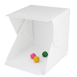 Wholesale Backdrops Led Lighting - Wholesale- LED Light Room Photo Studio Photography Lighting Tent Backdrop Mini Box