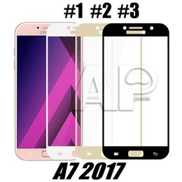 Wholesale Glasses Hard - Full Cover Tempered Glass For Samsung J7 Prime Huawei Mate P9 P10 Lite Nova Oneplus5 Hard Edge Screen Protector with Package