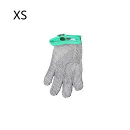 Wholesale Butchers Glove - 1PC XS Cut Resistant Glove Stainless Steel Mesh Metal Mesh Butcher Anti-cutting Gloves Five Fingers Nylon Belt Gloves Work Safety Gloves