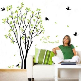 Wholesale Tv Backdrop Wall - Wall Sticker Lemon Tree TV Backdrop Art Mural For Kid Room Water Proof Removable Home Decor Decal 3 25hl F R