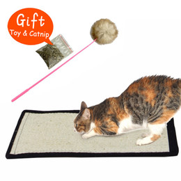 Wholesale Foot Protect - Natural sisal cat scratching post toy for cats catnip tower climbing tree Cat Scratch Pad board Protecting furniture Foot