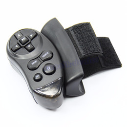 Wholesale Video Steering Wheel - Wholesale- 1pc Black Car Universal Steering Wheel Remote Control Learning For Car CD DVD VCD
