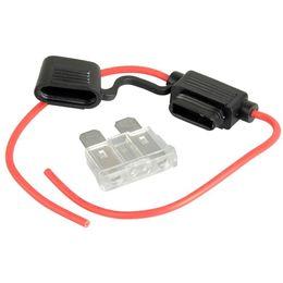 armaturenbrettsystem Rabatt ZOOKOTO Auto Auto Draht Inline Automotive Medium Standard Blade Wasserfeste Sicherungshalter 16AWG 25A 12 V / 24 V / 32 V DC