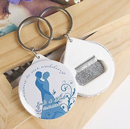 Wholesale Personalized Bottle Openers Wedding Favors - Wholesale-Free Shipping 100pcs Personalized Wedding Favors And Gifts Bottle Opener & Keychain Wedding Gifts For Guests Wedding Souvenirs