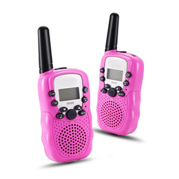 Wholesale Mobile Telephones - 1Pairs=2PCS Child Kids Walkie Talkie Parenting Game Mobile Phone Telephone Talking Toy 5-8KM Range For Kids Christmas Gifts