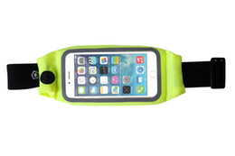 Wholesale wallet zip for iphone - WINMAX Bright Color Reflective Fabric Waist Money Wallet Pouch Sports Pack Hiking Leisure Mini Zip Running Bag Belt for iPhone 6 Plus