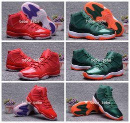 Wholesale New Mens Basketball Shoes 11 - 2017 New Air Retro 11 XI Bulls Green Red 72-10 Raging Bull Mens Basketball Shoes Sneakers Men Retros 11s Running Shoes Sports Dan Shoes