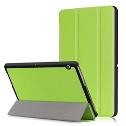 "Wholesale Leather Protective Case For Huawei - Ultra Slim Case for HUAWEI MediaPad T3 10.0(9.6""), Trifold Solid PU Leather Light Weight Smart Magnet Protective Stand Cover+pen"