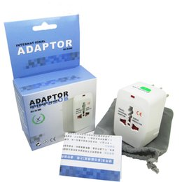 Wholesale Ac Dc Power Socket - Universal International Travel World Wall Charger AC Power Adapter with AU US UK EU Plug All in One DC Power Socket Charger Adaptors