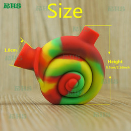 Wholesale Smoke Food - Novelty Snail Design Mini Silicon Snail Filter for Tobacco Smoke Small Travel Water Pipe Food Grade Silicone Blunt