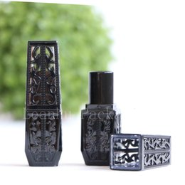Wholesale unique wholesale containers - New arrival Unique empty black square lipstick tube makeup lip gloss tubes containers cosmetic lip stick bottle lip balm tube