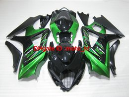 Wholesale Suzuki Gsxr Fairings Green - For Suzuki fairings GSXR1000 07 08 green black bodywork fairing kit GSXR 1000 2007 2008 IU01
