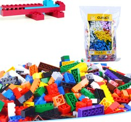 Wholesale Diy Toys For Kids - 1000pcs lot DIY Bulk Building Blocks 14 Types 10 Colors Building Bricks Construction Brick Building Blocks Toys for Kids
