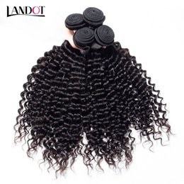 Wholesale Double Weft Indian Hair Extensions - Brazilian Deep Curly Virgin Hair Weave Bundles Unprocessed Peruvian Malaysian Indian Cambodian Mongolian Kinky Curly Human Hair Extensions
