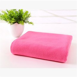Wholesale Beach Sheets Towels - PASAYIONE Solid Bath Towel Bathroom Textile Linen Large Pool Beach Bath Sheet Absorbent Microfiber Drying Washcloth Kids Toalla