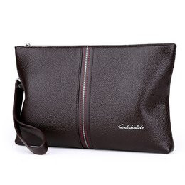 Wholesale Cowhide Clutches - 2017 Genuine Leather Men Wallet Carteiras Masculinas Cowhide Leather Purse Card Holder Coin Pocket Male Wallets Clutch