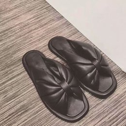 Wholesale Sandal Outsole - Paris fashion week bow sandals rubber outsole sheepskin slippers 2017 new big bow spring