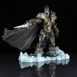 Wholesale Dota Figures - 22cm Arthas Menethil Fall of The Lich King Action Figures Toys Dota 2 PVC Collectible Figures Model Dolls Children Gifts