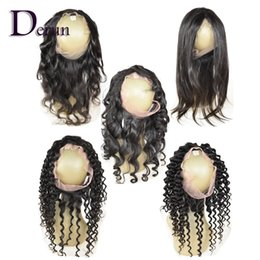 Wholesale Virgin Indian Hair Curly Mixed - Pre plucked 360 lace frontal Brazilian Peruvian Indian Malaysian Virgin hair Body Wave Straight Loose Wave Deep Wave Deep Curly