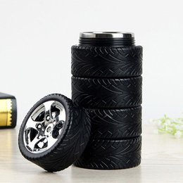Wholesale Thermal Coolers Wholesale - Tire Car Cup Lining My Water Bottle Creative Style Design Coffee Mugs Travel Personalized Mugs Cool Water Bottles
