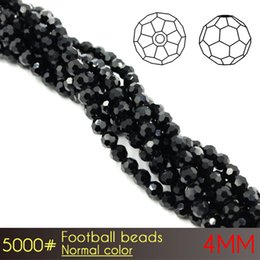 Wholesale Glass Curtains - 2017 Hot sale cristal glass round beads Football Beads 4mm Normal Colors A5000 100pcs set curtains clear glass beads