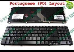 Wholesale Hp Laptop Keyboard Dv6 - New and Original Notebook Laptop keyboard FOR HP Pavilion DV6 DV6T DV6-1000 dv6-2000 Glossy Black Portuguese PO Version - 530580-131