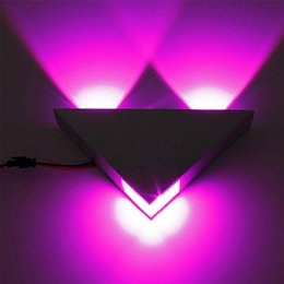 Wholesale Frosting Decorations - New style Kitop 9W Aluminum Triangle led wall lamp AC85-265V high power led Modern Home lighting indoor and outdoor decoration light