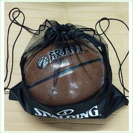 Wholesale Wholesale Gym Drawstring Bags - Basketball Backpack Soccer Football Drawstring Bag Gym Mesh Bag for Men Kids Sports