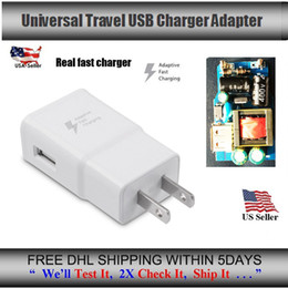 Wholesale Iphone Charger Quality - High quality 100% real 5v 2a 9V 1.67a EU US fast chargers For Samsung Galaxy Note 5 4 S6 Edge Adaptive Fast