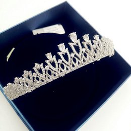 Wholesale imitation jewels - 3A zircon crown Headband High quality Environmental copper Jewels hairband Bling Wedding bridal Hair Accessories H13009