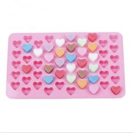 Wholesale Flexible Heart - Wholesale- 55 Holes Mini Heart Silicone Cake Mold Chocolate Fondant Jelly Cookie Muffin Ice Tray Mould Flexible Moulds Cupcake Bake Tools