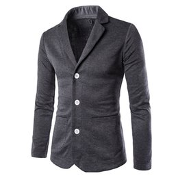 Wholesale Men Wholesale Fitted Coat - Wholesale- 2017 Spring New Brand Clothing Suit Coat Mens Blazer Slim Fit Male Costume Homme Suit Jacket Masculine Blazer
