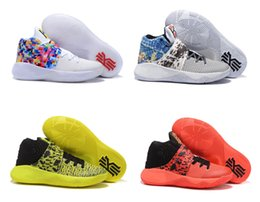 Wholesale Bhm Shoes - Kyrie Irving Basketball Shoes For Men Kyrie 2 Bright Crimson Tie Dye BHM All Star Basketball High Quality Sports Sneakers Size US 8 - 13