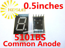 Wholesale Common Modules - Wholesale- 200PCS x 0.5 inches Red 5101BS Common Anode Single Digital Tube LED Display Module